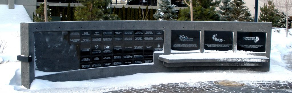 Penticton BC Donation wall
